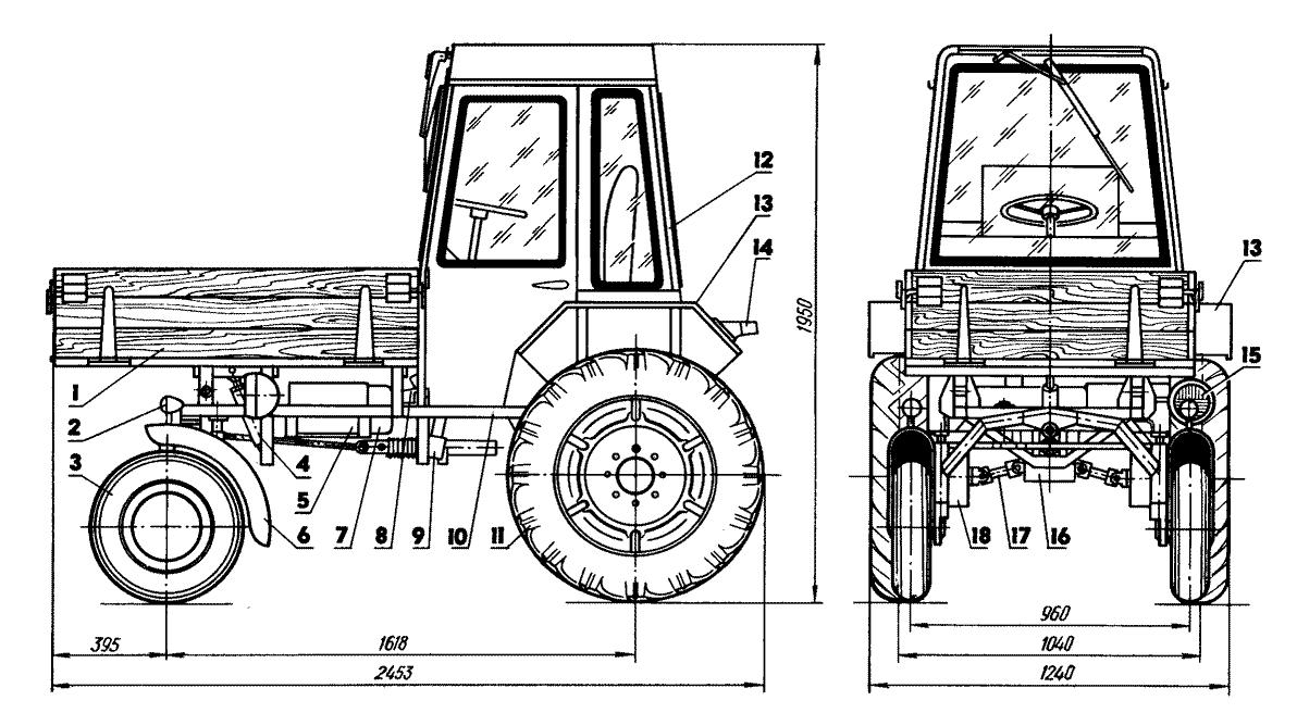 Мини-трактор «Шассик»: 1
