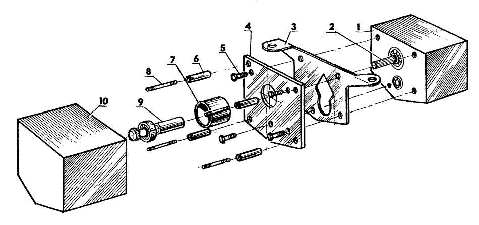 Схема сочленения коробок