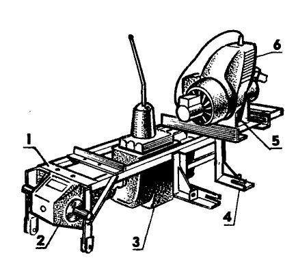 Размещение основных агрегатов на раме мини-трактора