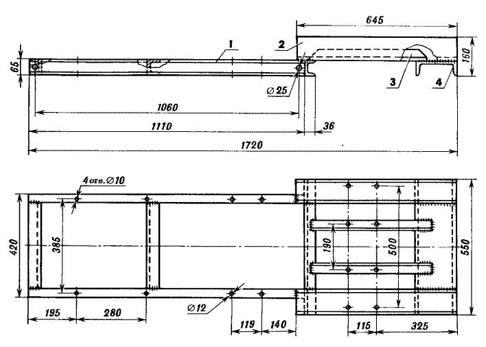 Конструкция рамы мини-трактора