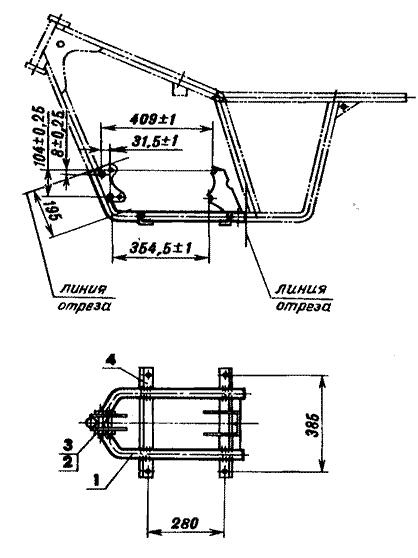 Рама двигателя мини-трактора
