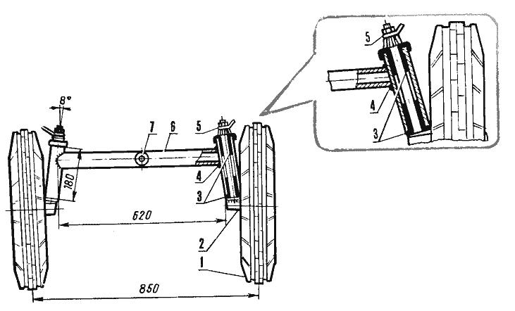 Как сделать передний мост на минитрактор своими руками