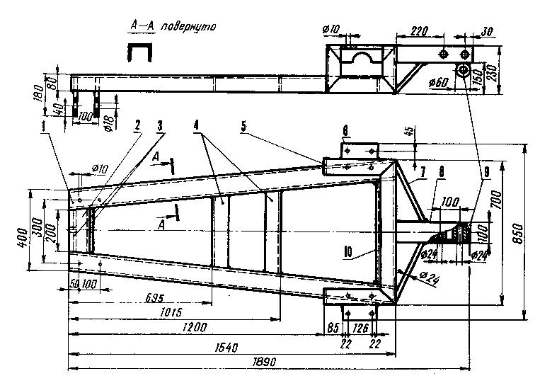 Рама мини-трактора